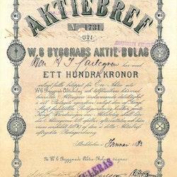 Byggnads AB W 6, 1883