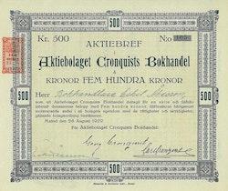 Cronquists Bokhandel, AB