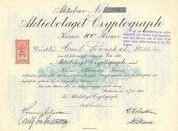 Cryptograph, AB, 100 kr.