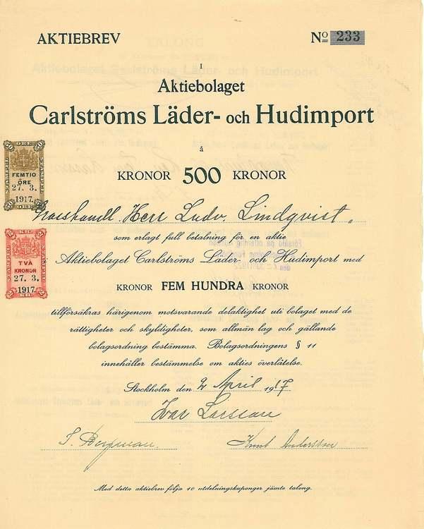 Carlströms Läder och Hudimport AB