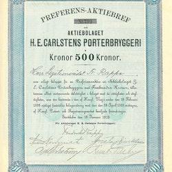 Carlstens Porterbryggeri AB H.E