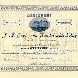 Carlssons Handels AB, J. A, 1911