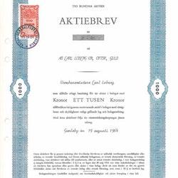 Carl Loberg Ur Optik Guld AB 1.000 kr