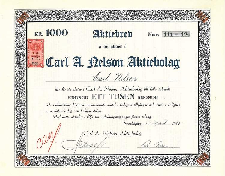 Carl A. Nelson AB