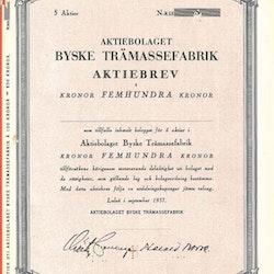 Byske Trämassefabrik, AB, 500 kr