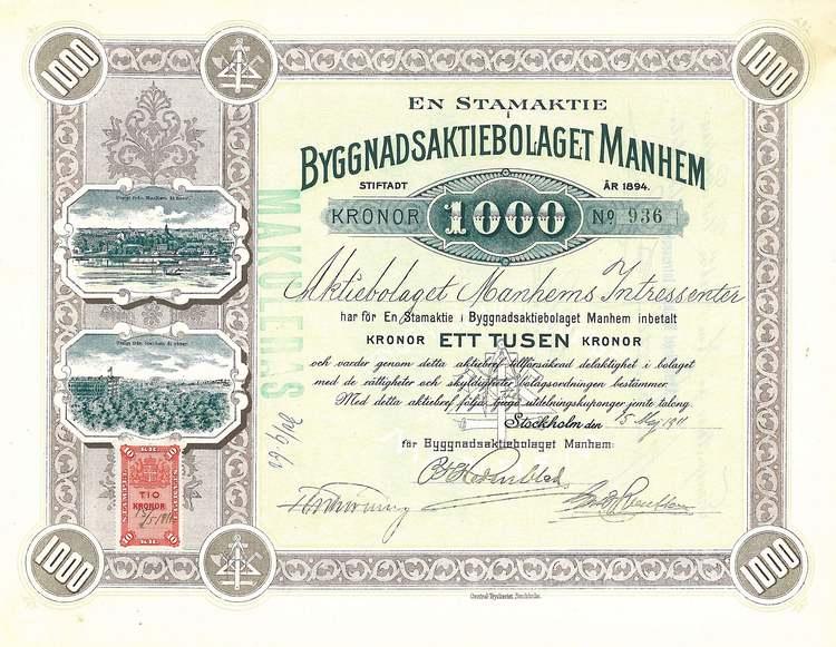 Byggnads AB Manhem, 1911