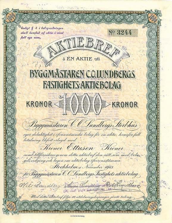 Byggmästaren C.O. Lundbergs Fastig. AB