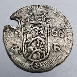 *Karl XI, 4 Öre 1668 Reval