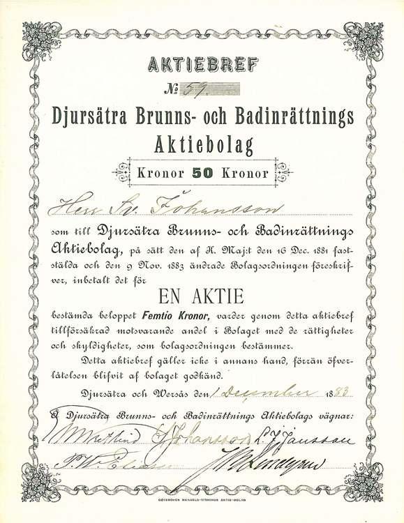 Djursätra Brunns- och Badinrättnings AB