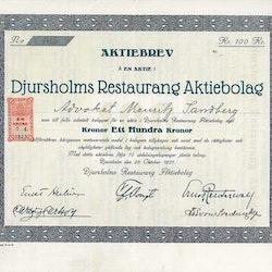 Djursholms Restaurang AB, 100 kr.