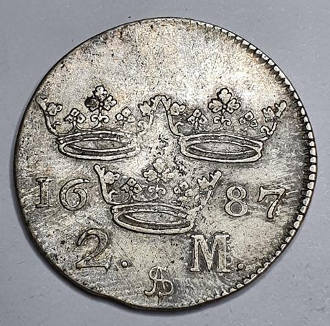 *Karl XI, 2 Mark 1687
