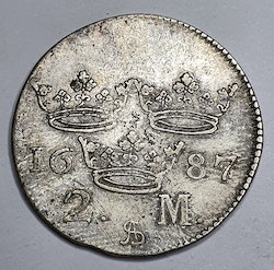 *Karl XI, 2 Mark 1687