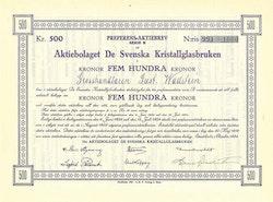 De Svenska Kristallglasbruken AB, 500 kr