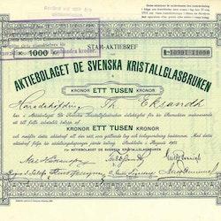 De Svenska Kristallglasbruken AB, 1903