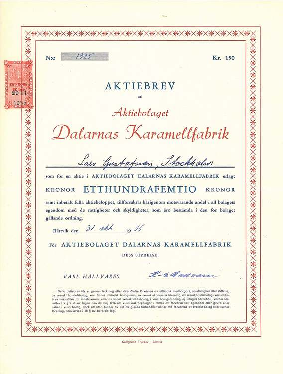 Dalarnas Karamellfabrik, AB