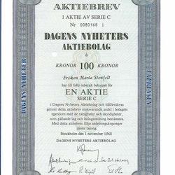 Dagens Nyheter AB, 100 kr