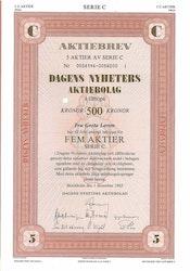Dagens Nyheter AB, 500 kr