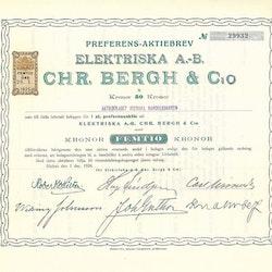 Elektriska AB Chr.Bergh & Co, 50 kr