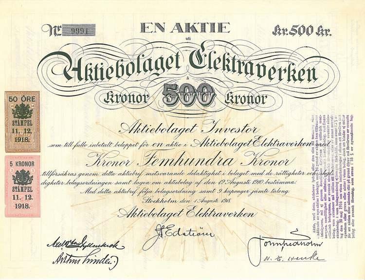 Elektraverken, AB, 1918