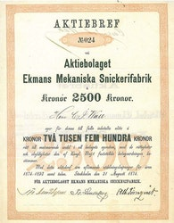 Ekmans Mekaniska Snickerifabrik, AB