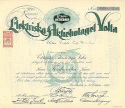 Elektriska AB Volta, 500 kr
