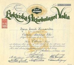 Elektriska AB Volta, 1000 kr.