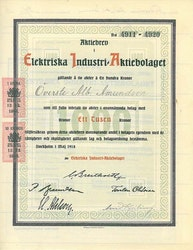 Elektriska Industri AB, 1000 kr