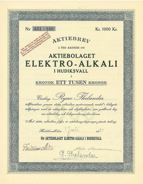 Elektro-Alkali i Hudiksvall, 1000 kr