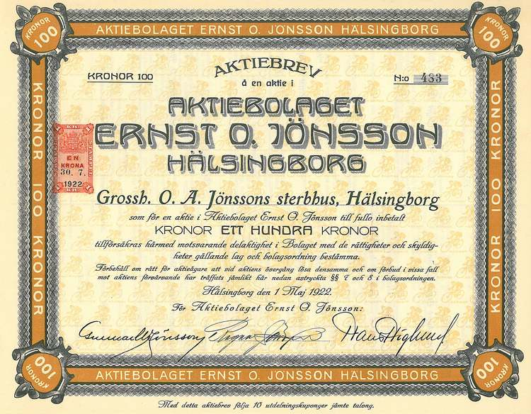 Ernst O Jönsson, AB