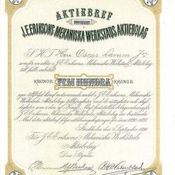 Eriksons Mekaniska Verkstads AB, J.E. 1890