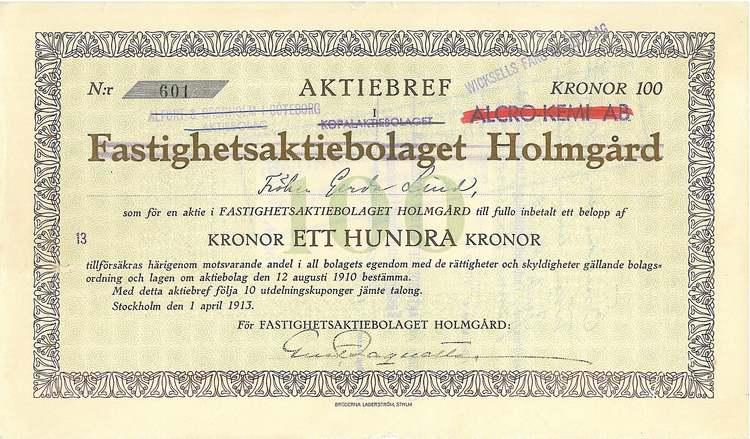 Fastighets AB Holmgård