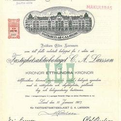 Fastighets AB C.A. Larsson, 100 kr