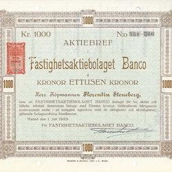 Fastighets AB Banco, 1000 kr