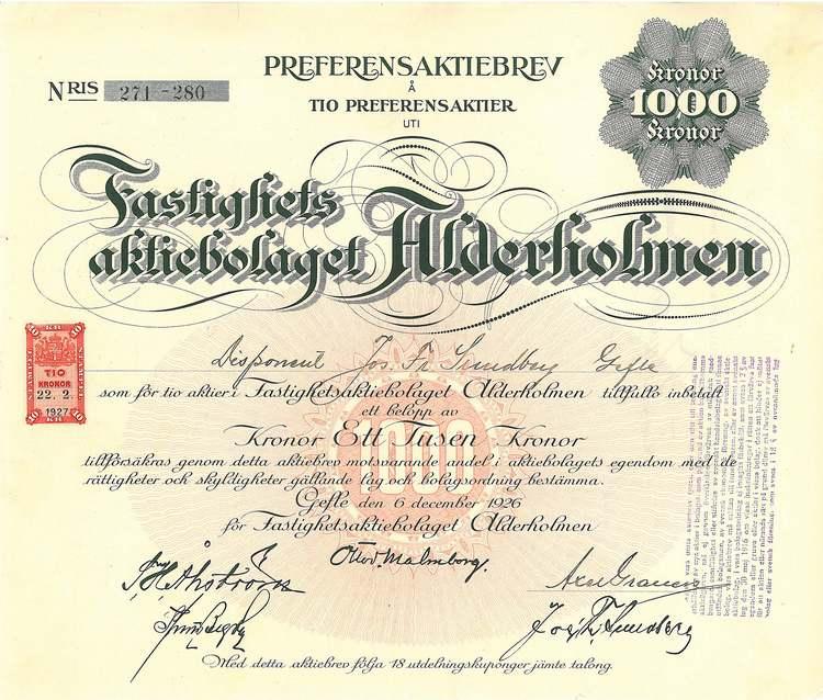 Fastighets AB Alderholmen