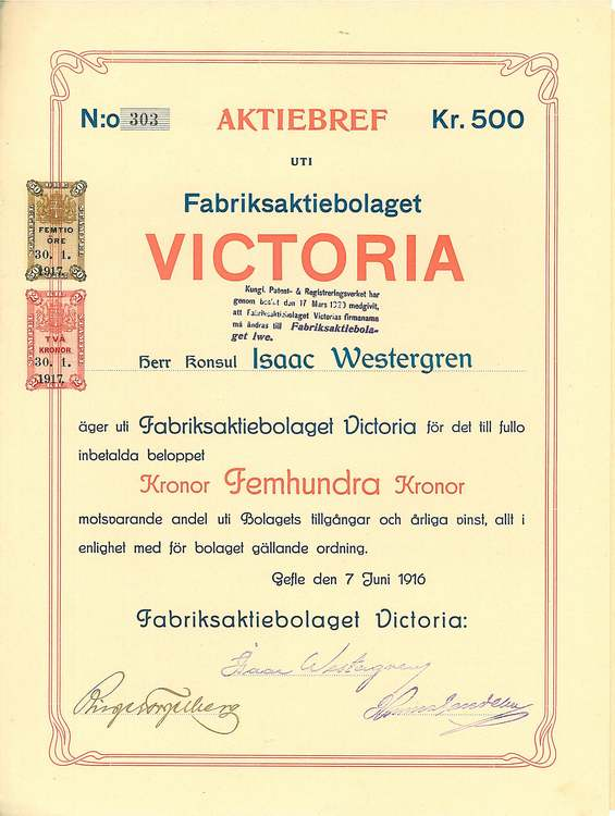 Fabriks AB Victoria