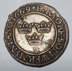 *Karl XI, 4 Öre 1669