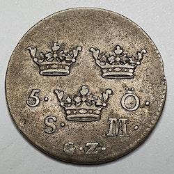 *Fredrik I, 5 Öre 1735