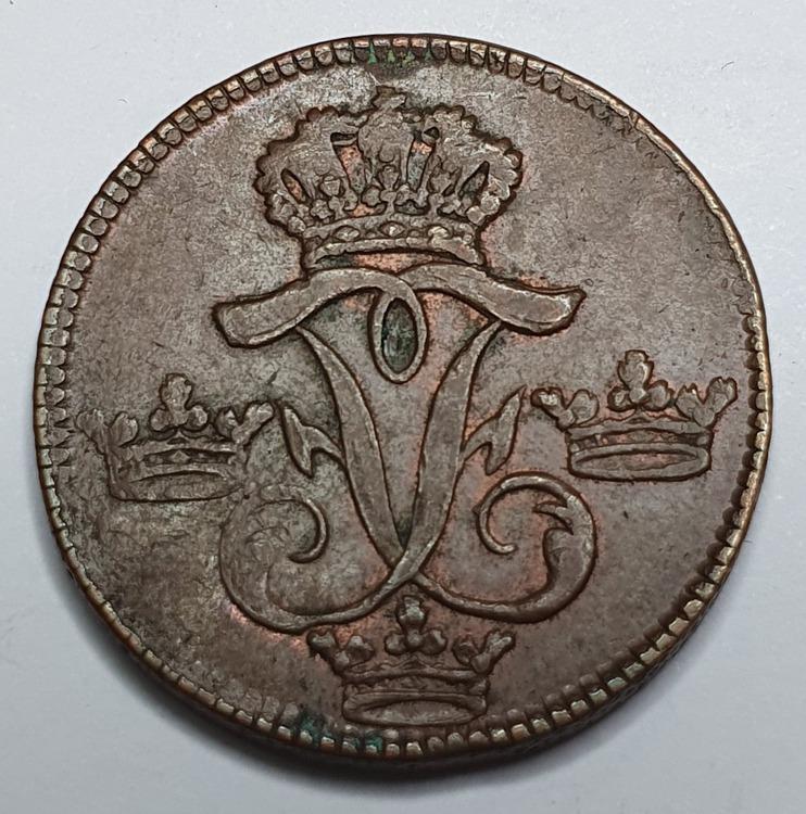 *Fredrik I, 1 öre SM, 1749