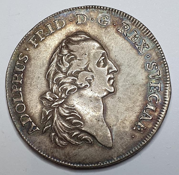 *Adolf Fredrik, 1 Riksdaler 1754
