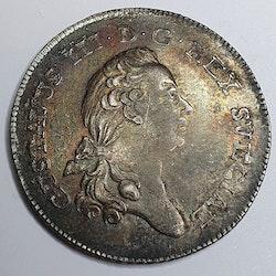 *Gustav III, 1/3 Riksdaler, 1778