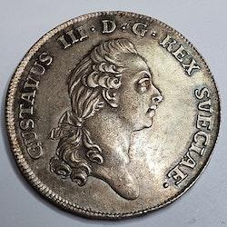 *Gustav III, 2/3 Riksdaler, 1778