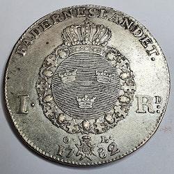 *Gustav III, 1 Riksdaler 1782