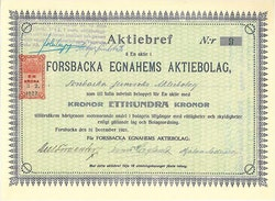 Forsbacka Egnahems AB