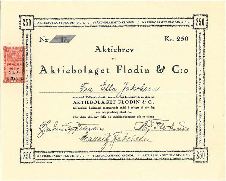 Flodin & C:o, AB