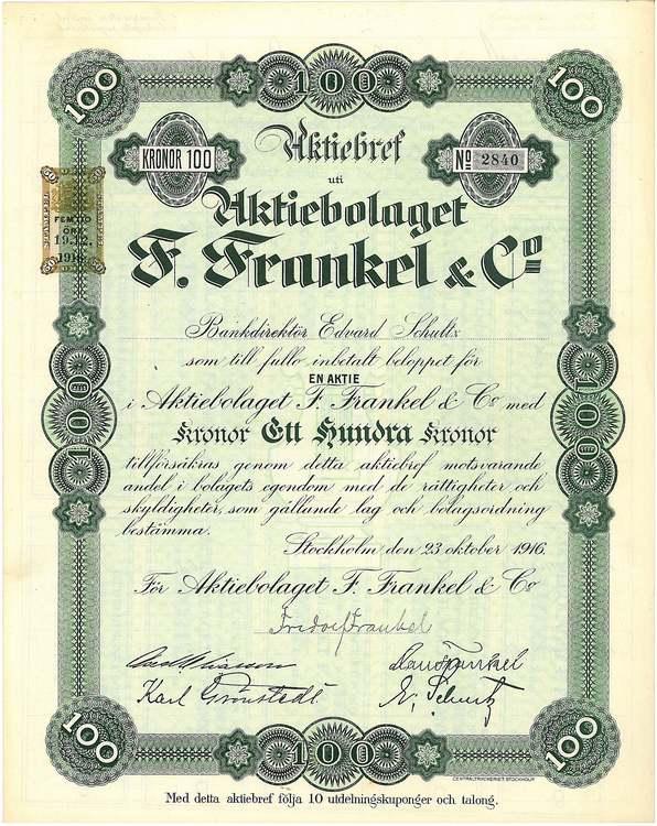 Frankel & Co, AB F.