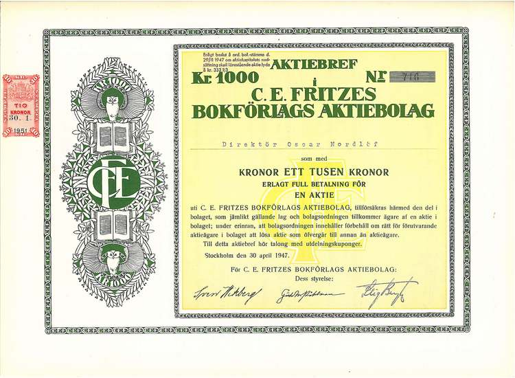 Fritzes Bokförlags AB, C.E.