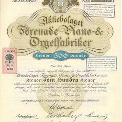 Förenade Piano-& Orgelfabriker, AB