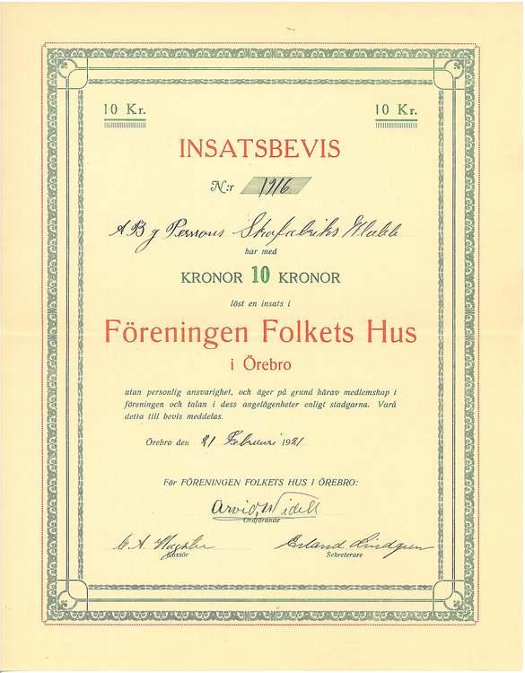 Föreningen Folkets Hus i Örebro