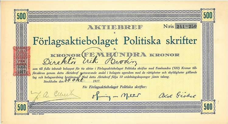 Förlags AB Politiska Skifter