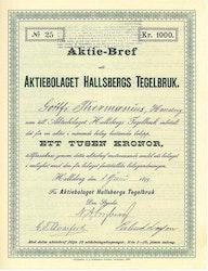 Hallsbergs Tegelbruk, AB